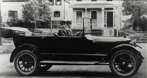 The Stanley Twins in a 1917 Stanley