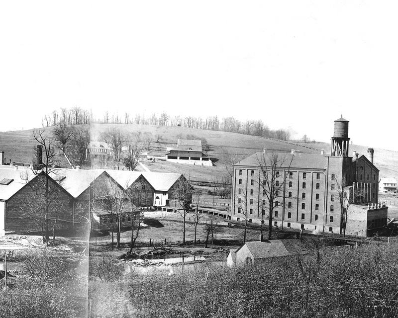 Panorama of Yorklyn taken by T. Clarence Marshall, 1903