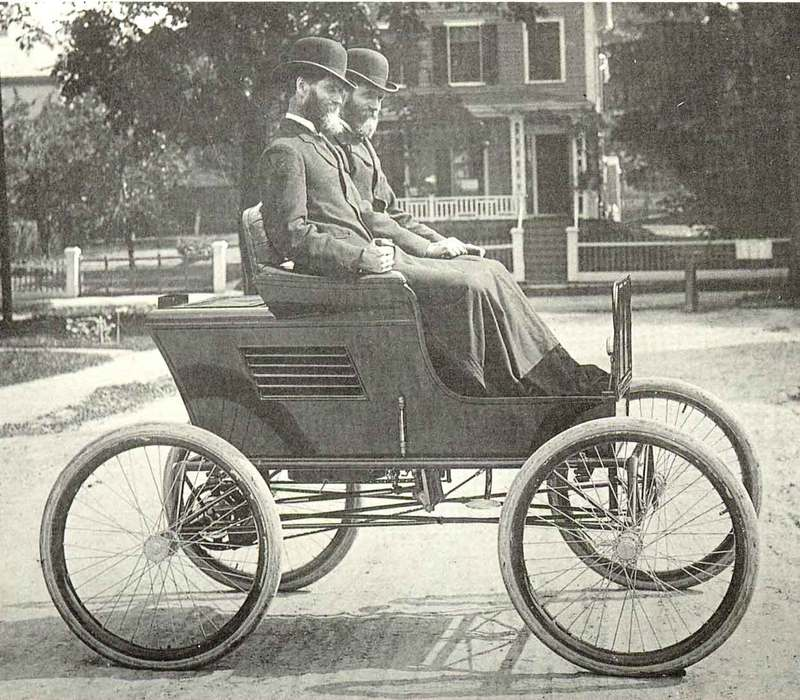Stanley Brothers in First Car
