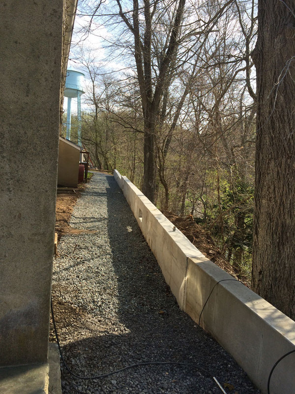 Retaining wall project, 2015